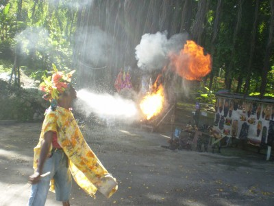 Man spitting fire | Excursions In Oho Rios