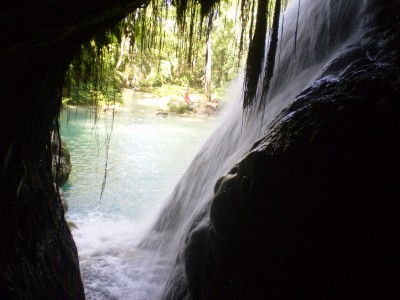 Inside the cave at blue hole and secret falls | Excursions In Oho Rios